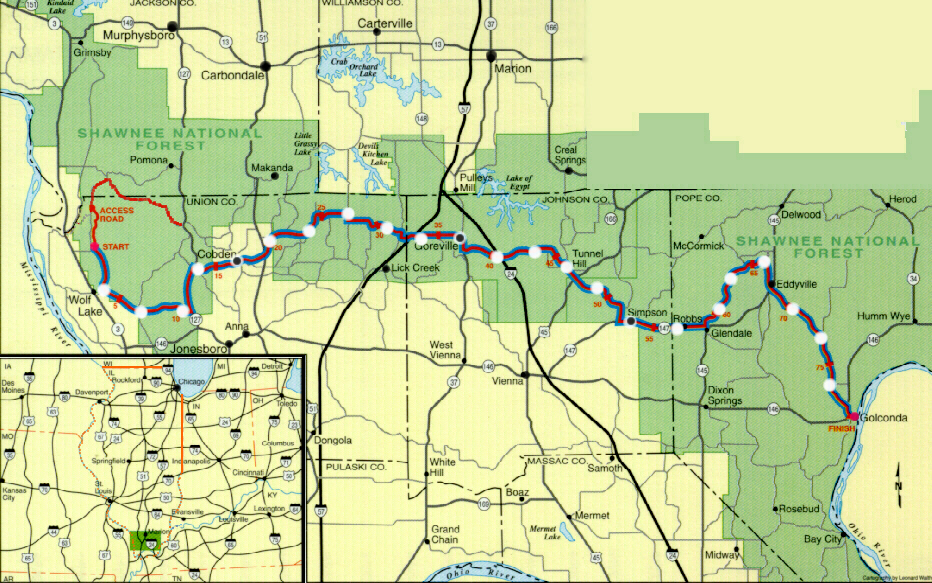 Illinois River To River Relay - Map of illinois rivers